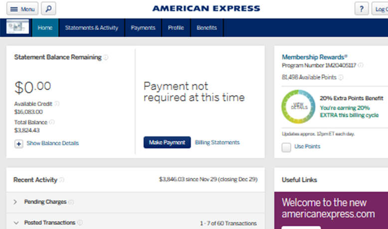 AMEX.COM SECURED